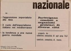 Aggressione imperialista alla Libia, manifesto