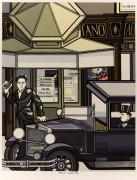 Gino Lucetti attenta alla vita di Mussolini, poster di Costantini