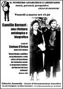 camillo berneri: una rilettura antologica e biografica, locandina primo incontro ciclo il pensiero anarchico e libertario