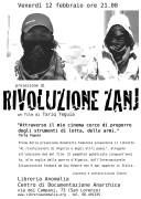 rivoluzione zanj, locandina proiezione