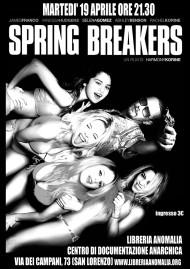 spring breakers, locandina proiezione