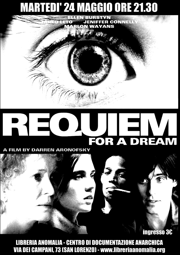 requiem for a dream, locandina proeizione