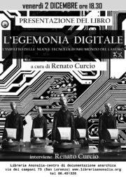 l'egemoni deigitale, locandina presentazione del libro con la partecipazione di Renato Curcio