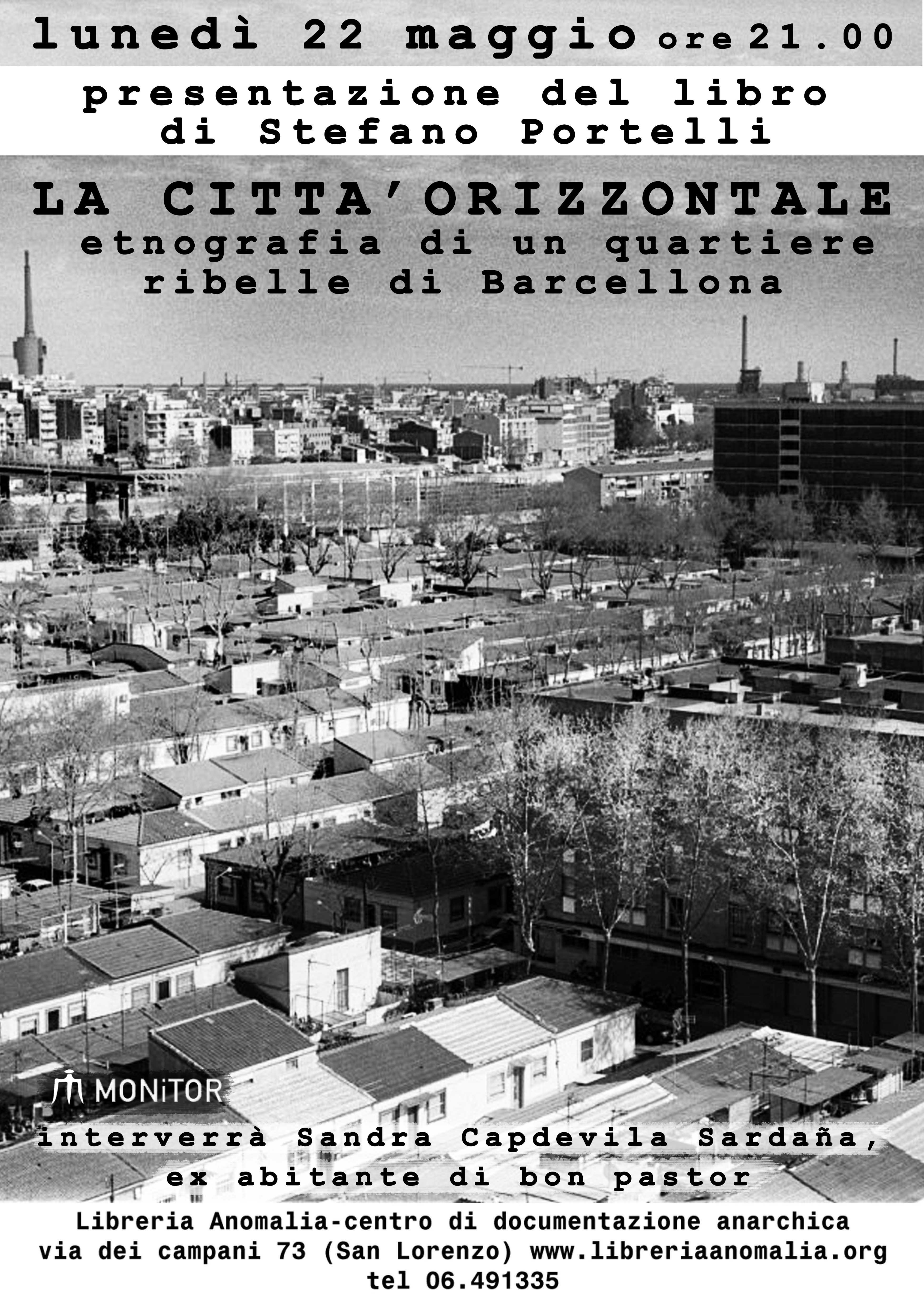 locandina della presentazione del libro di Stefano Portelli
