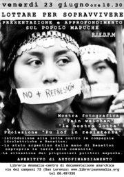 locandina incontro sul popolo mapuche
