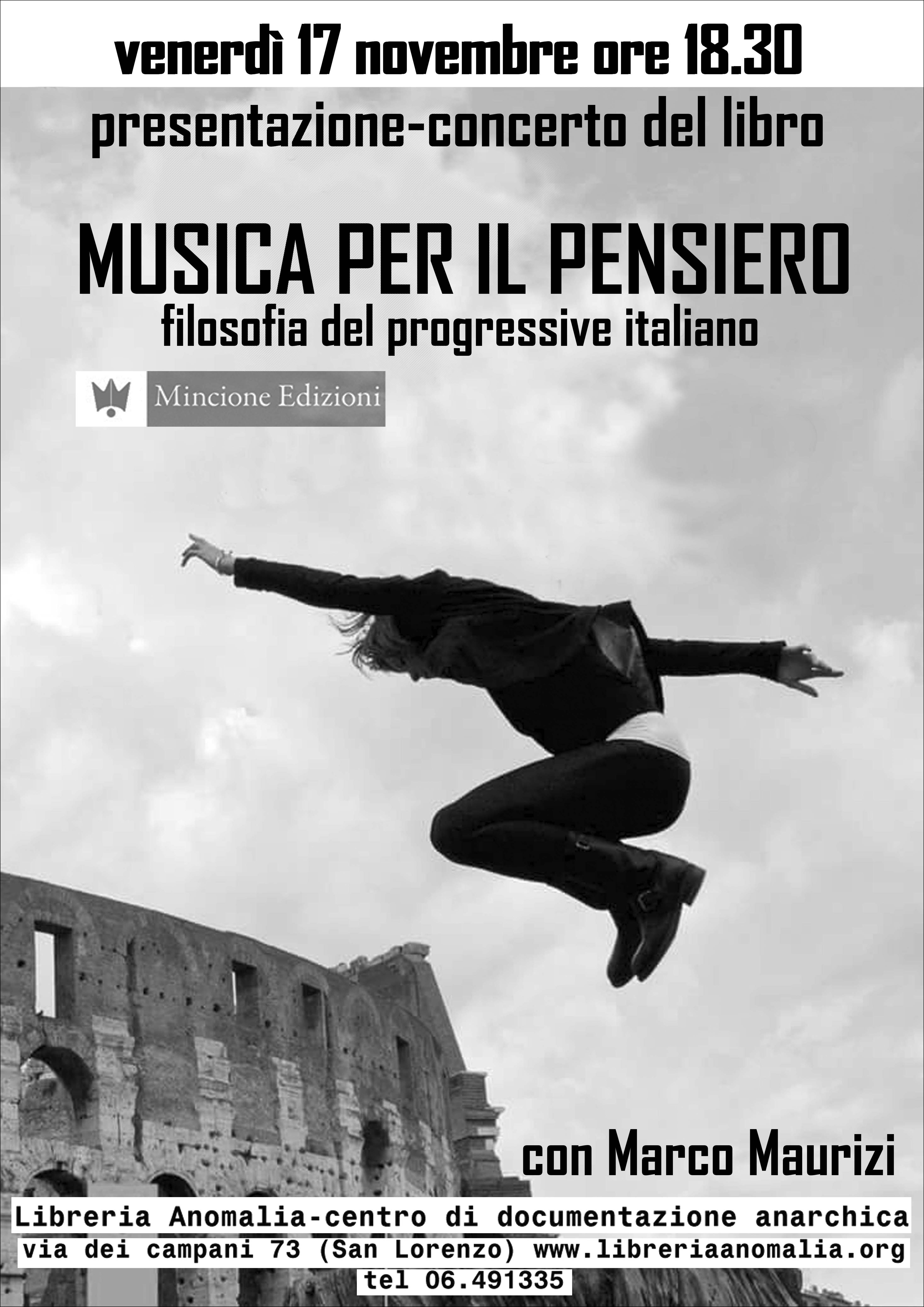 locandina concero presentazione libro musica per il pensiero