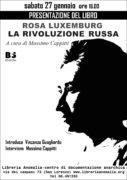 locandina presentazione libro rosa luxemburg la rivoluzione russa