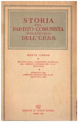 storia del partito comunista /bolscevico/ dell'U.R.S.S