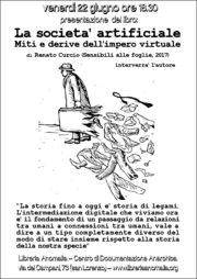 locandina presentazione del libro la società artificiale di renato curcio