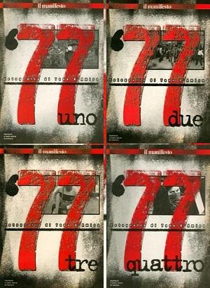 Settantasette. Fotografie di Tano D'Amico, Roma, Supplementi al Manifesto (4 fascicoli)