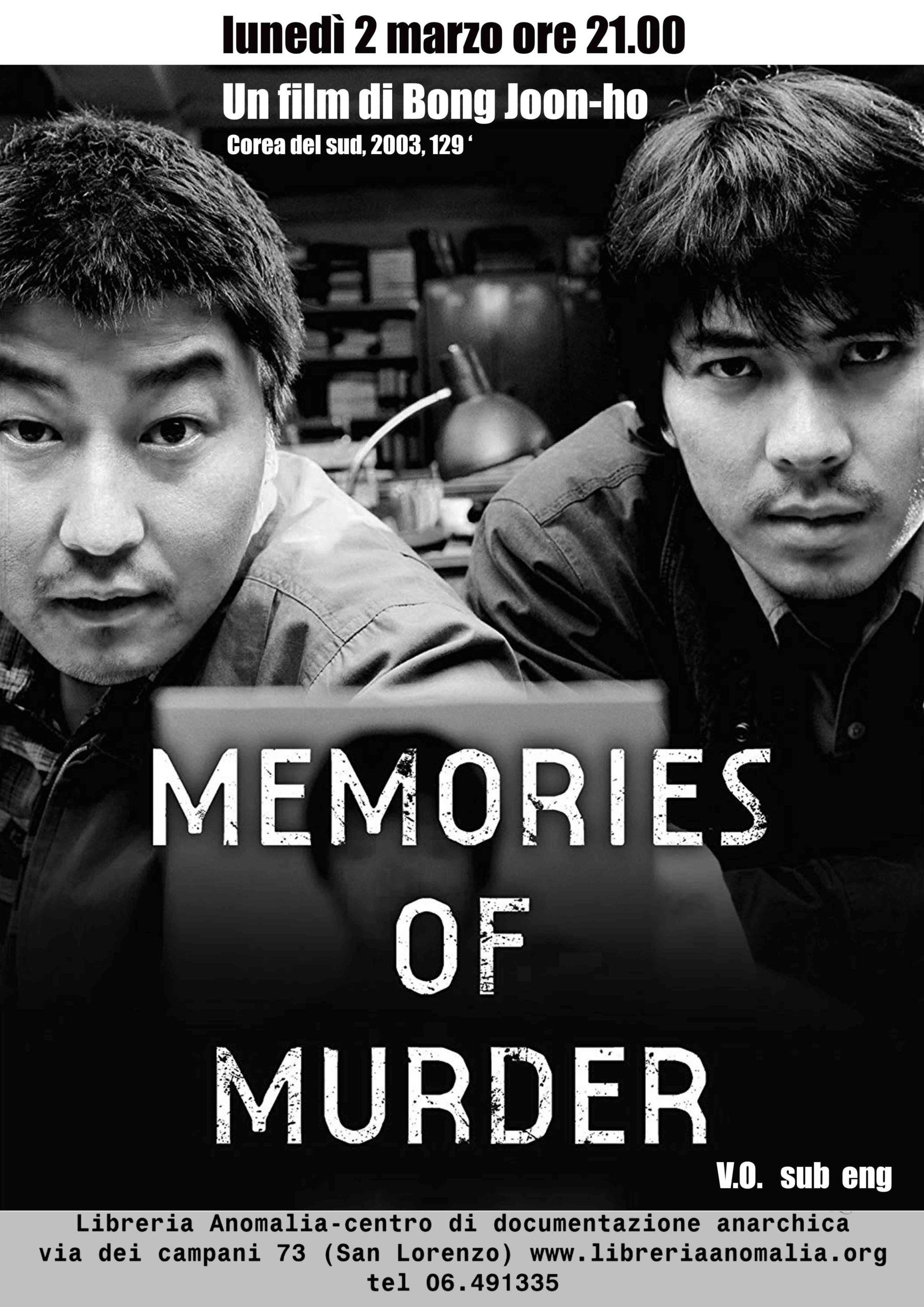 memories of murder, primo film della rassegna cinema del mondo